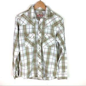 Wrangler American Cowboy Plaid Snap Down Shirt S